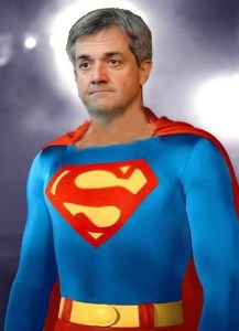 supehuhne: Chris Huhne as Superman