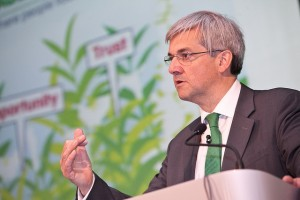 Chris Huhne at retrofit conference