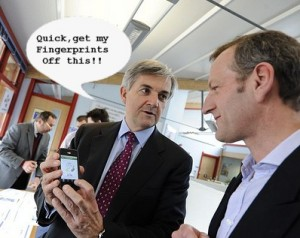 huhne fingerprints