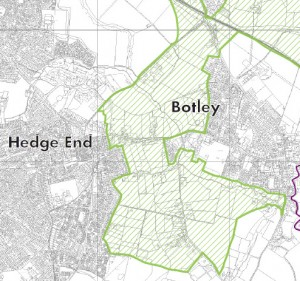 The strategic gap between Hedge End and Botley
