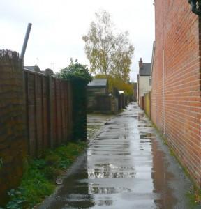 Newtown Eastleigh alleyway