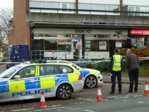 robbery scene  chandlers Ford precinct