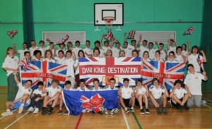 Barton Peveril Staff and Students cheer on Dani King