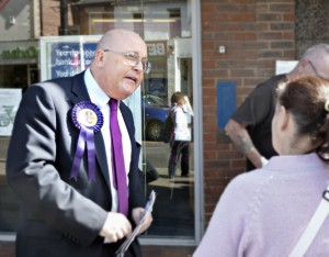 stephen west campaigning in Eastleigh