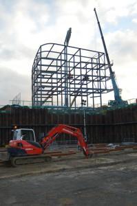East Upper frame progressing well