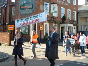 Protestors feel that the Borough Council have not been listening
