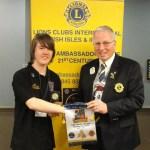 Jake Toomer receives award