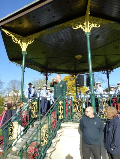 Bandstand a focal point during Remembrance Sunday 2012