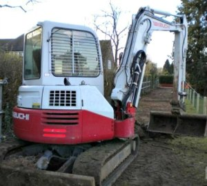 A Takeuchi mini-digger which is similar to the one stolen