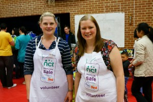 Sarah Delaney and Kelly Dixon at the Eastleigh NCT Nearly New Sale