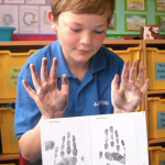 Inky Fingers - Junior PCSO's learn about fingerprints