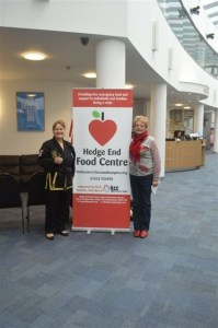 Jo Helesfay-Evans of CKD4Health with Beryl Lawrence of the Food Centre