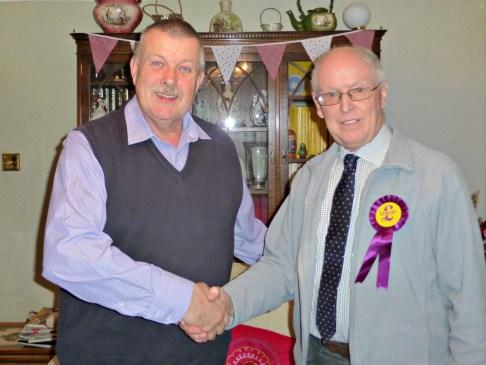 Flashback: John Edwards (L) welcomes Michael Read in Jan 2014