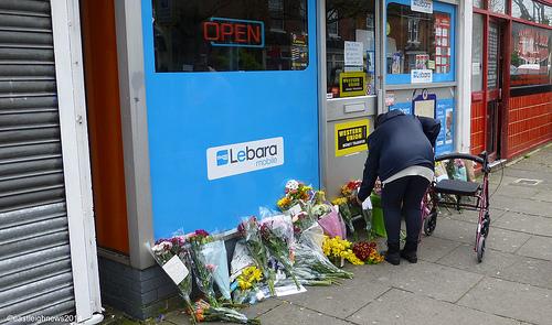 Flowers murder scene