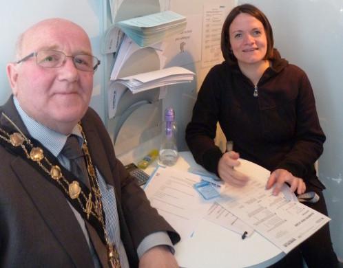 Mayor Malcolm Cross screened for diabetes risk