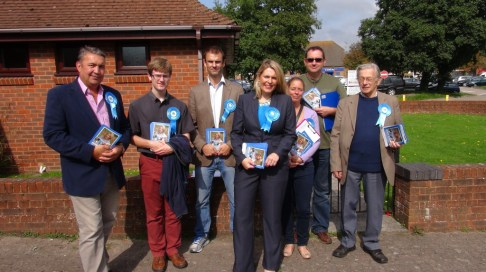 Mims Davies canvassing team