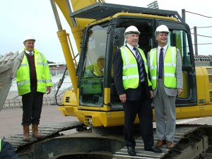 Flashback to 2012 - Keith House and Rod Bransgrove break ground for the new hotel