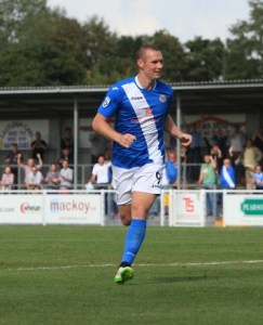 James Constable had a chance to equalise (photo by Tony Smith)