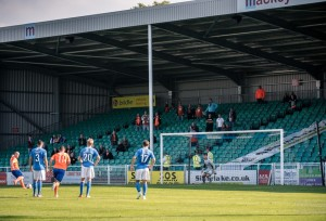 The current 2,290 capacity Mackoy community stand (photo by Paul Paxford)
