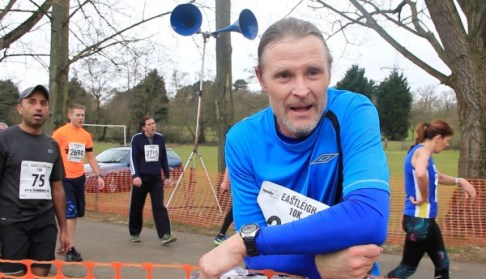 Cllr Bicknell who can run 10k in 47 minutes and still do an interview on finish line Pic: Yee Teoh