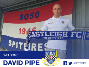 David Pipe signs for Eastleigh