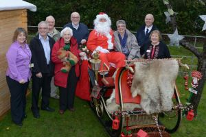 Anchor Staff and Bishopstoke residents with sleigh