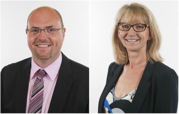 Cllr Steve Sollitt and Sarah Bain