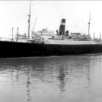 SS Athenia seen in Montreal Harbour 1933 Credit National Archives of Canada