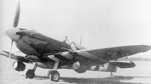 Modification XXX Spitfire Mk IX with beer kegs