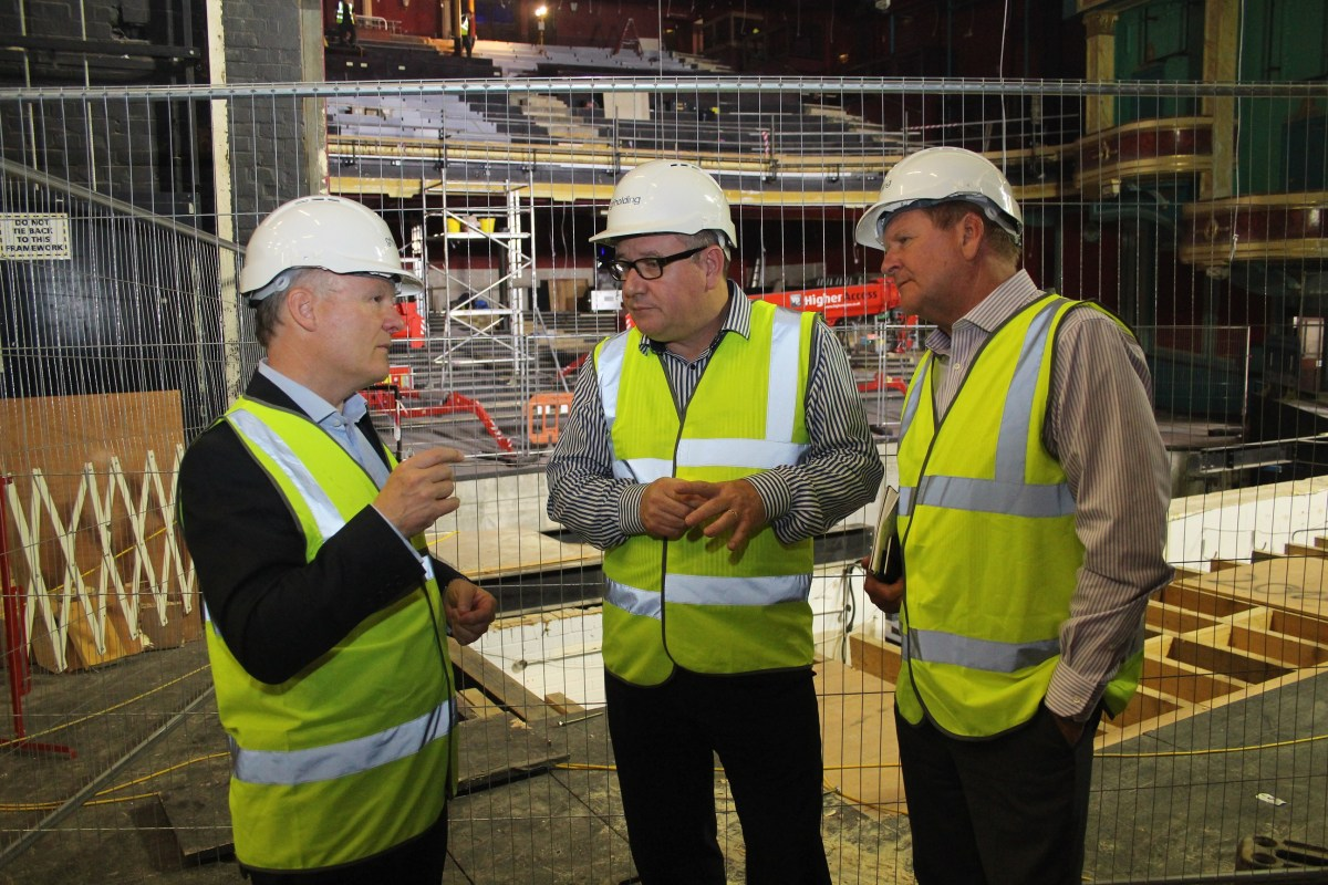 Southampton MP takes behind the scenes look at work on Mayflower Theatre's £7.5m refurbishment