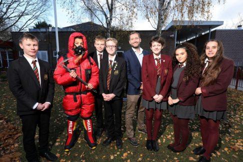 Everest adventurer James Ketchell meets Romsey School pupils