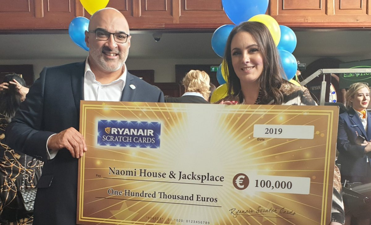 Ryanair donates €100,000 to support seriously ill local children