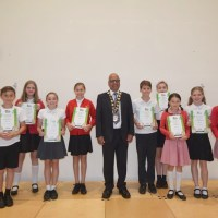 Crescent pupils raise hedgehog awareness