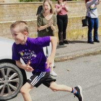 Reggy runs for local children's cancer charity