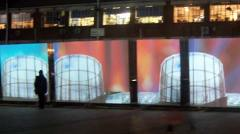 The video installation in Gillett Square. Photo: Daisy Bowie-Sell