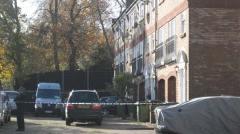 Police cordon off Mr Grant's home in Brockley. Photo: Joanna Lowy