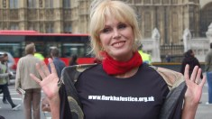 Actress Joanna Lumley leads park visitors up the garden path with her audio guide