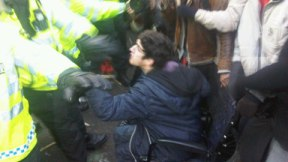 police dragged a man from his wheelchair in par sq 5 mins ago