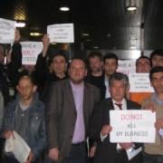 Sainsbury's protest: Katherina Herold