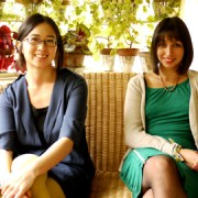 Amanda Lwin and Carolina Garcia Huerta from Sound Tracks festival. Photo: Sophia Ignatidou