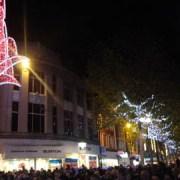 Larry Lamb turns on Croydon Christmas lights
