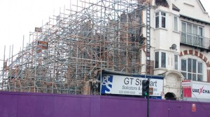 Sari shop being rebuilt in Croydon