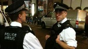 """Police are briefed that this will be a """"peaceful protest"""" while waiting on Derry St"""