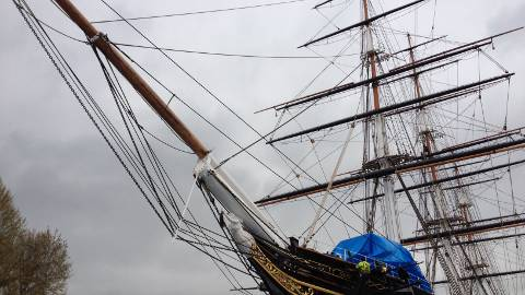 The Bow of the Cutty Sark