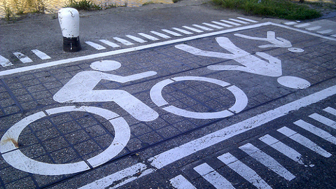 Cycle lane in the East End. Pic: Martin Deutsch