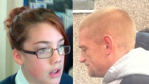 Tia Sharp and Stuart Hazell. Pic: police handout and Emma Jane Burgess