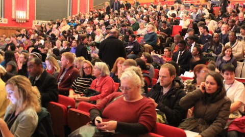Around 700 people attended the meeting. Pic: Gaelle Laforest