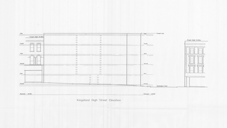 The disputed elevation drawing.