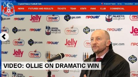 Ian Holloway speaks on Crystal Palace website on dramatic win against Peterborough at Selhurst Park