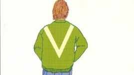 Artist's impression of a man in a green 'V' jacket Met Police would like to trace Pic: Met Police